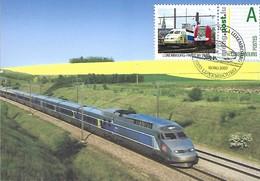10.6.2007  -  Rame TGV -Reseau Rénové Par Christian Lacroix Sur La Ligne à Grande Vitesse PARIS-LYON - Cartes Maximum