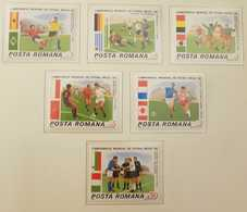O) 1986 ROMANIA, 1986 WORLD CUP SOCCER CHAMPIONSHIPS, SOCCER PLAYS - ITALY -BULGARIA, MEXICO -BELGIUM, CANADA -FRANCE, B - 1948-.... Republics