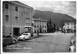 Gravellona Toce (Verbania). Corso Sempione E Municipio - Car, Auto, Voitures. - Verbania