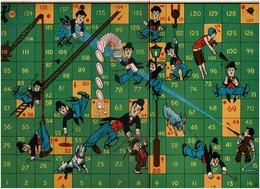 31 Cm X 22 Cm - Rare 1930s Jeu D'Echelle / Snake's & Ladders Board Game - Charlie CHAPLIN - Voir Scan - Toy Memorabilia