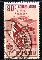 CI1299 - VENEZUELA 1952, Posta Aerea Yvert  N. 399  Usato . ARAGUA - Venezuela
