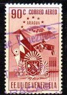 CI1300 - VENEZUELA 1952, Posta Aerea Yvert  N. 399  Usato . ARAGUA - Venezuela