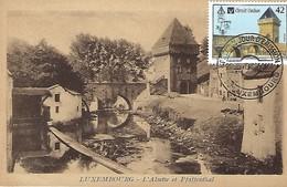 21.9. 2000  -  Carte  Maximum Sur Carte Ancienne  Luxembourg  -  L'Alzette Et Pfaffenthal - Cartes Maximum