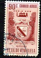 CI1304 - VENEZUELA 1952, Posta Aerea Yvert  N. 417  Usato . MIRANDA - Venezuela