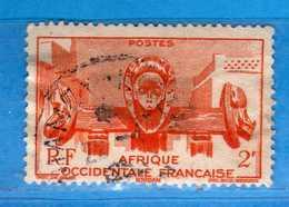 (Us3)  Afrique Occidentale Française, AOF 1947 - Yvert.33 . Oblitéré .  Vedi Descrizione - A.O.F. (1934-1959)