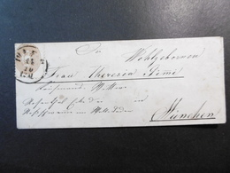 Österreich Mi.34 Damenbriefhülle 1866 Von Wien Im Grenzrayon Nach München AK RA 2 - Briefe U. Dokumente