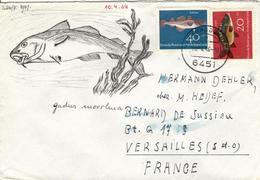 D+ Deutschland 1964 Mi 414-15 Karpfen, Kabeljau (UNIKAT / ÙNICO / PIÉCE UNIQUE / JEDINEČNÝ) - [7] Federal Republic