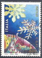Italia, 2000 Natale, 800L Policromo # Michel 2737 - Scott 2382 - Sassone 2514 - Usato - 6. 1946-.. Republik