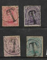 """Belgium, 1919, Postage Stamps Opt """"T"""" For Postage Due, 10c, 15c, 29c, 25c, C.d.s. Used - Postage Due"""