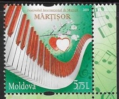 MOLDOVA , 2019, MNH, MUSIC, INTERNATIONAL MUSIC FESTIVAL,1v - Music