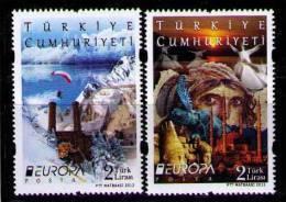 TURQUIA 2012 - EUROPA - VISIT - 2 SELLOS - Europa-CEPT