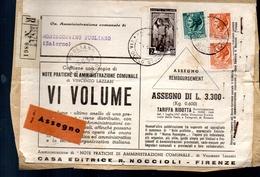 559 Frontespizio Raccomandata Tariffa Ridotta  Per Editori Mista Siracusana Mista Italia Al Lavoro E Siracusana - 1946-60: Marcophilia