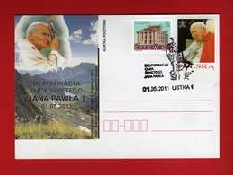 Polonia - Polska - Postcard 2011 - Giovanni Paolo II - BEATYFIKACJA 01-05-2011  Vedi Descrizione. - Interi Postali