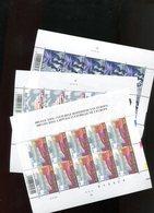 Belgie 2002 Nr 3058/60 Europa CEPT Bruges Cultural City Volledig Vel Plaatnummer 222 - Feuillets