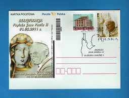 Polonia - Polska - Postcard **2011 - Giovanni Paolo II - BEATYFIKACJA 01-05-2011  Nuova.  Vedi Descrizione. - Interi Postali