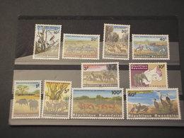 RWANDA . 1965 FAUNA 10 VALORI - NUOVI(++) - Rwanda