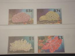 FIJI - 1997 CORALLI 4 VALORI - NUOVI(++) - Fiji (1970-...)