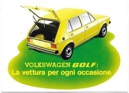 Volkswagen Golf - La Vettura Per Ogni Occasione (anno 1974). - Voitures De Tourisme