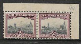 South Africa, 1927 GVR , 2d, London Ptg, NE Marginal Pair & Selvedge, MNH ** - South Africa (...-1961)