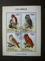 Owls. Eulen. Les Hiboux  # Ivory Coast # 2014 Used S/s # Birds Vögel Des Oiseaux - Owls