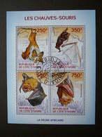 Bats Fledermäuse Chauves-souris # Ivory Coast # 2014 Used S/s # Mammals - Other
