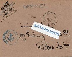 LSC 1951 - Cachet Hexagonal PORTE AVIONS ARROMANCHES & Griffe PA Arromanches - OFFICIEL - Cachet Marine Nationale - Marcophilie (Lettres)