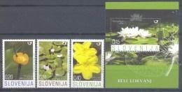 Slovenia Slovenie Slowenien 2007: Mi 652-5; Flora - Water Plants, Flowers MNH ** - Slowenien