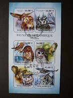 Owls. Eulen. Les Hiboux # Mozambique # 2011 Used S/s # Birds - Owls