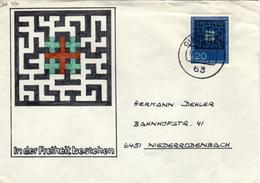 D+ Deutschland 1965 Mi 480 Evangel. Kirchentag (UNIKAT / ÙNICO / PIÉCE UNIQUE / JEDINEČNÝ) - Storia Postale