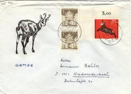 D+ Deutschland 1966 Mi 489 512 Gemse (UNIKAT / ÙNICO / PIÉCE UNIQUE / JEDINEČNÝ) - Briefe U. Dokumente