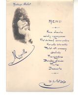 Menu De Baptême    Mireille   13 Juillet 1919 - Menus