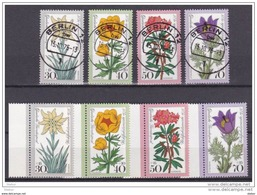 Duitsland 1975 Kleine Verzameling Bloemen Nr 716/19 **/G, Krt 3722 - Collections (sans Albums)