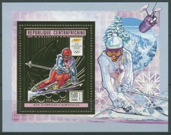 Zentralafrikanische Rep. 1990 Olymp. Spiele Block 490 A Postfrisch (C28312) - Central African Republic