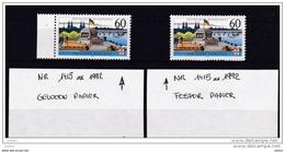 Duitsland 1992 Nr 1415 **, Fosfor En Gewoon Papier, Zeer Mooi Lot Krt 3708 - Timbres