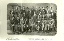 """4004 """"RICORDO SCOLASTICO 947-948 - LUOGO SCONOSCIUTO"""" FOTO ORIG.-FOTO G. MARTINA-TORINO - Persone Identificate"""