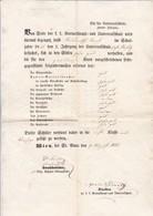 Schulzeugnis Wien St. Anna 1855 (41540) - Diplome Und Schulzeugnisse