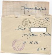 LAC 1956 - Cachet MOSTAGANEM - ORAN & Cachet 31èm Groupe Vérérinaire De MOSTAGANEM - AFN - Algérie (1924-1962)
