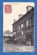 CPA - EMANVILLE - Un Quartier - Epicerie J. MARAIS - Magasin R. LAMY - Dumont éditeur - 1906 - Normandie Eure Histoire - France