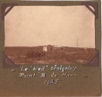 Hann 1925 Senegal Dakar - Photo C.6.5x10cm Apposée Sur Carton - Point B - Lieux