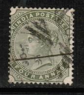 INDIA  Scott # 42 F-VF USED (Stamp Scan # 513) - India (...-1947)