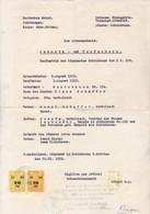 Geburts- Und Taufschein Zum Ariernachweis - Schönbrunn Im Sudetengau - Stempelmarken - 1939 (41542) - Historische Dokumente