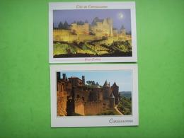 106) Carcasonne  2 Cp :porte D'aude, Tours De St Nazaire : Patrimoine Mondial - Carcassonne