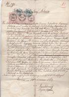 Geburts- Und Taufschein Mit Stempelmarken - Verona 1863 (41546) - Historische Dokumente