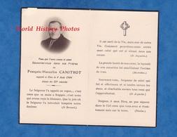 Faire Part De Décés - François Marcellin CANITROT Décédé Le 4 Aout 1944 - Chauffeur D' Automobile à Rodez En 1912 - Décès