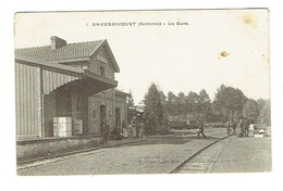 SOMME 80 DAVENESCOURT La Gare Chemin De Fer - Frankrijk