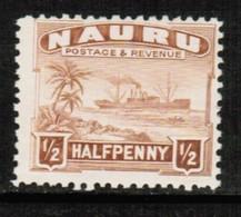 NAURU  Scott # 17* F-VF MINT LH (Stamp Scan # 513) - Nauru