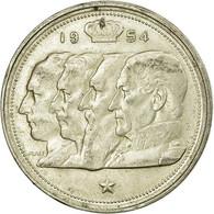 Monnaie, Belgique, 100 Francs, 100 Frank, 1954, TB+, Argent, KM:138.1 - 09. 100 Francs