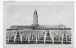 (RECTO / VERSO) DOUAUMONT EN 1935 - OSSUAIRE - CIMETIERE NATIONAL - BEAU CACHET - CPA VOYAGEE - Douaumont