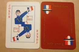 """Carte JOKER """"Cie Gle TRANSATLANTIQUE"""" FRENCH LINE - Compagnie Générale Transatlantique - CGT - Barajas De Naipe"""