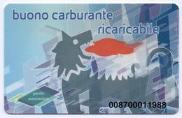 ITALIA-ROMA-CARD BUONO CARBURANTE RICARICABILE-ENI - Other Collections